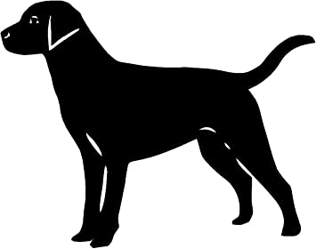 "You Choose! LABRADOR DOG  Vinyl Decal Sticker Car Window Wall 4/"" Black or White"