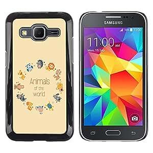 Dragon Case - FOR Samsung Galaxy Core Prime - animals of the world - Caja protectora de pl??stico duro de la cubierta Dise?¡Ào Slim Fit