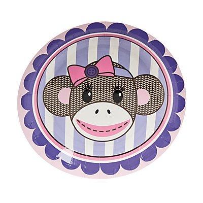 Amazon 1st Birthday Miss Sock Monkey Dessert Plates Kitchen