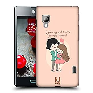 Head Case Designs Most Favourite Person All About Love Hard Back Case Cover for LG Optimus L5 II Dual E455