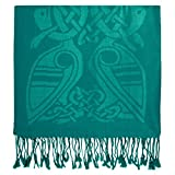 irish gifts made in ireland - Pashmina Scarf Book of Kells Design from Ireland Green