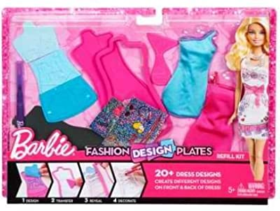 Barbie Fashion Design Plates Sassy Extension Pack