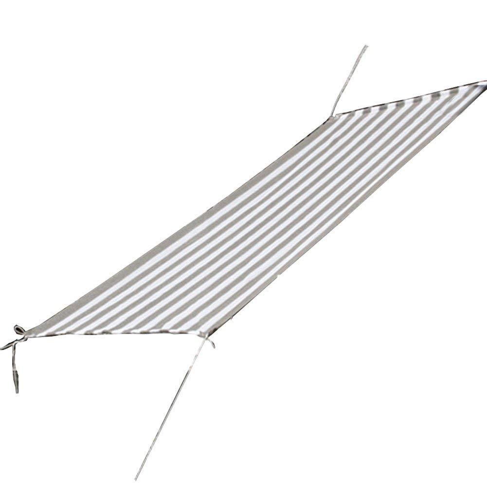QINCH Regenschutztuch wasserdichtes Sonnenschirmnetz, 6-Pin-Verschlüsselung Sonnenschutz Balkon Isolationsnetz fleischigen grünen Pflanzensonnenschirm (Farbe   grau Weiß, Größe   2x6m)