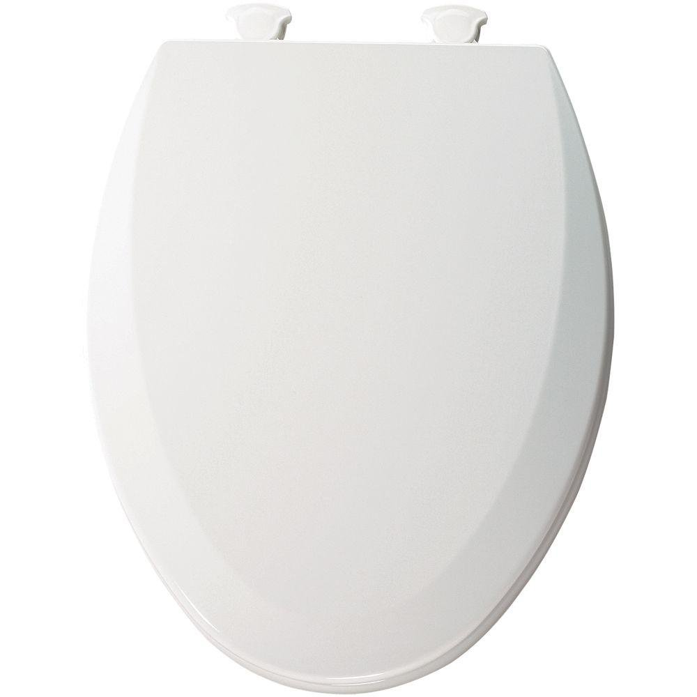 Bemis 1500EC 390 Lift-Off Wood Elongated Toilet Seat, Cotton White