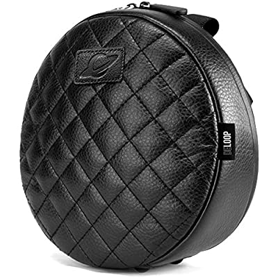 Orbit Concepts DELOOP DELUXE QUILTED Universal HEADPHONE Carrying Bag/Case Made With 100% Genuine Nappa Leather. Fits Sennheiser, Sony, Audio Technica, all Beats by Dre, and more.