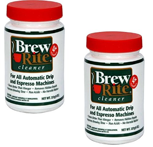(Brew Rite Coffee Maker Cleaner for Home Coffee Machines and Espresso Equipment, 2 Pack (8 oz. each) )