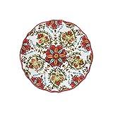 Le Cadeaux Allegra Salad Plate, 9'', Red