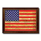 United States of America Vintage Flag Gift Ideas Home Decor Wall Art Office Decoration Collection Western Interior Design Souvenir - 23''x33''