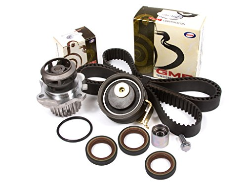 Evergreen TBK306BWPT Fits 01-06 Audi TT Volkswagen Jetta Beetle GTi 1.8L TURBO Timing Belt Kit Water Pump ()