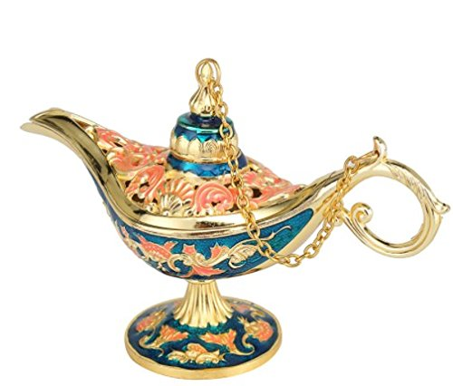 Antique Style Fairy Tale Aladdin Magic Lamps Tea Pot Genie Lamp Vintage Retro Toys For Children Home Decoration - Sign Ban Ray