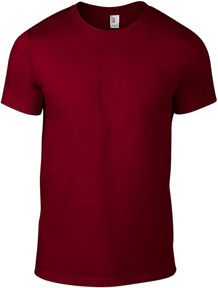 Anvil 12055695 - Camiseta para Hombre, Color Independence Red, Talla S: Amazon.es: Ropa y accesorios