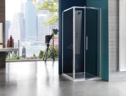 Mampara de ducha Pixel Gamme Trendy con apertura pivotante: Amazon.es: Bricolaje y herramientas
