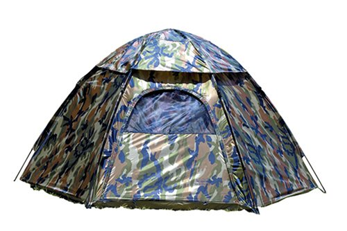 Camo Dome Tent (Texsport 3 Person Hide-A-Way Camo Backpacking Camping Tent with Carry Storage Bag)