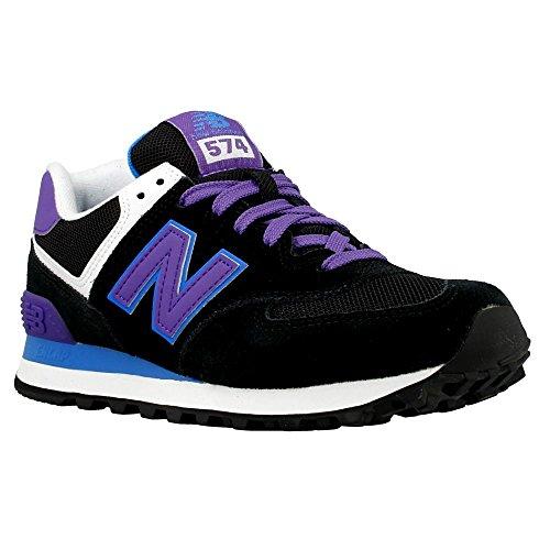 Balance Noir B New Femme Baskets Mode WL574 Violet BdTpcYq