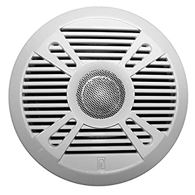"PolyPlanar Poly-Planar Ma7050 5"" 2-Way Marine Speaker W/2 Grills - White & Graphite"