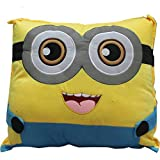 Bubble Hut Minion Cushion Pillow Soft Toy (Multicolour, 40 cm)