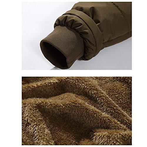 Manteaux Épais Noir Amovible Brown Homme Capuche Chaud En Blousons Doudoune Loisir Couleur Caidi Hiver 3xl Fourrure Veste n1BR4Tww