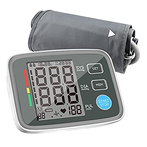 Blood Pressure Monitors Automatic Digital Upper Arm BP Monitor Automatically Measure Pulse Diastolic Systolic For Home Use 2 User Mode Fits Most Cuff FDA - Automatic Arm