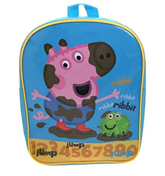 Peppa Pig - Mochila escolar George (Trade Mark Collections PEPPA001239): Amazon.es: Equipaje