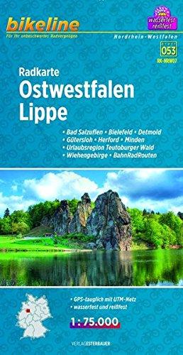 Bikeline Radkarte Ostwestfalen, Lippe 1:75 000 Landkarte – Folded Map, 1. Juli 2014 Esterbauer 3850003884 Deutschland Germany