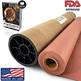 "Pink/Peach Butcher Paper Roll (18"" x 150') in Durable Carry Tube & eBook 
