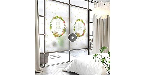 YFXGSTLI Película Ventana Static Cling Window Film Frosted Opaco Privacidad Vidrieras De Colores Decoración para El Hogar Impresión Digital Green Dream Song Tamaño Personalizado: Amazon.es: Hogar