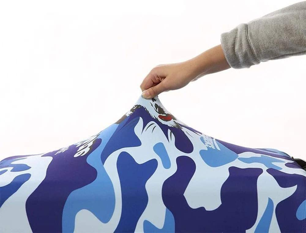 Color : D, Size : S 18-21 Yuybei-Bag Luggage Cover Rainproof Elastic Travel Luggage Cover Washable Baggage Covers Fits 18 to 32 Inch Luggage Travel Luggage Sleeve Protector