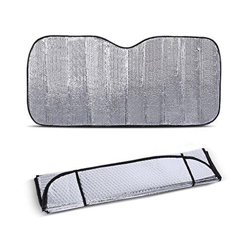 Yosoo Universele 130 * 60cm zilver auto voorruit zonwering hitte reflecterende ruiten vizier etalage UV Block