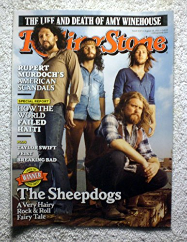 The Sheepdogs - Rolling Stone Magazine - #1137 - August 18, 2011 - The Life & Death of Amy Winehouse, Rupert Murdoch's American Scandals, Haiti articles - No Address Label! (Sheepdog Address Labels)