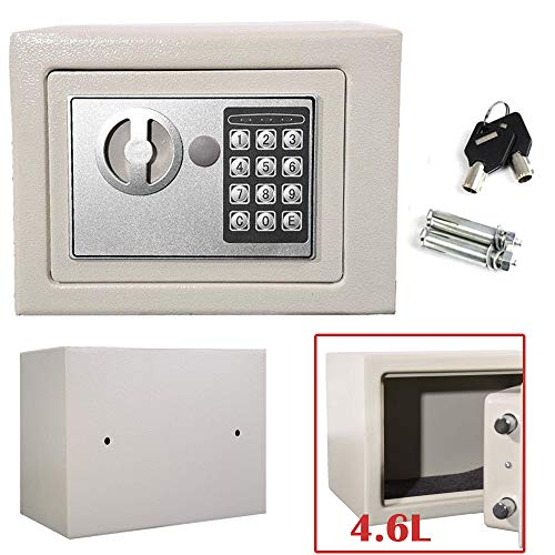 4.6L Secure Digital Steel Safe Electronic High Security Home Office Cash Money Safety Box 23x17x17) cm