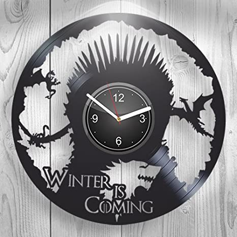 Best Gift for Fans Game of Thrones Game of Thrones Vinyl Clock Game of Thrones Wall Clock Original Wall Home Decor