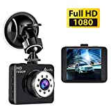 Accfly Dash Cam,Full HD 1080P Dash Camera 2.7' LCD Car Camera Dashboard Camera with 120 Degree Wide Angle G-Sensor Loop Recording Parking Monitor
