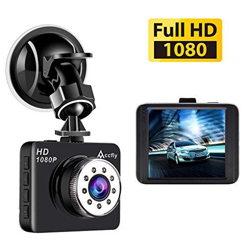 Accfly Dash Cam,Full HD 1080P Dash Camera 2.7″ LCD Car Camera Dashboard Camera 120 Degree Wide Angle G-Sensor Loop Recording Parking Monitor