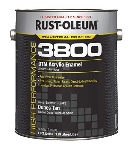 Rust-Oleum 3800 System DTM Acrylic Enamel- Gloss Dunes Tan, 1-Gallon
