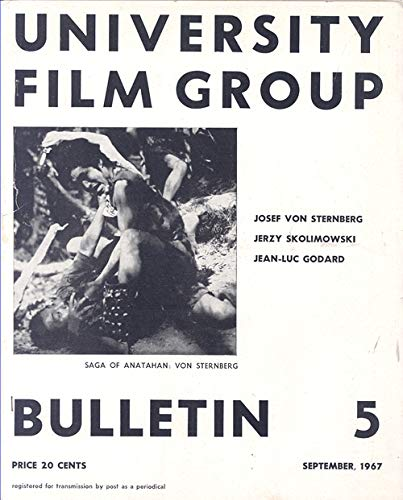 University Film Group Bulletin #5 Melbourne, Australia September 1967 (Scene From Saga of Anatahan)