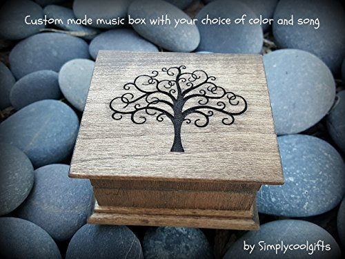 Music box, custom made music box, tree of life, handmade music box, gift for daughter, gift for mom, mothers day gift, simplycoolgifts