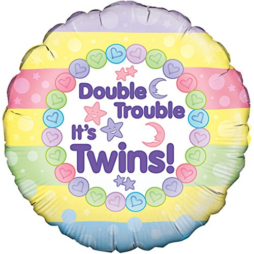 Oaktree 18 Inch Double Trouble Its Twins Balloon (One Size) (Multicoloured) -