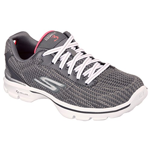 Skechers Go Walk 3 Fit Knit Women's Low-Top Sneakers Charcoal Y8tMv