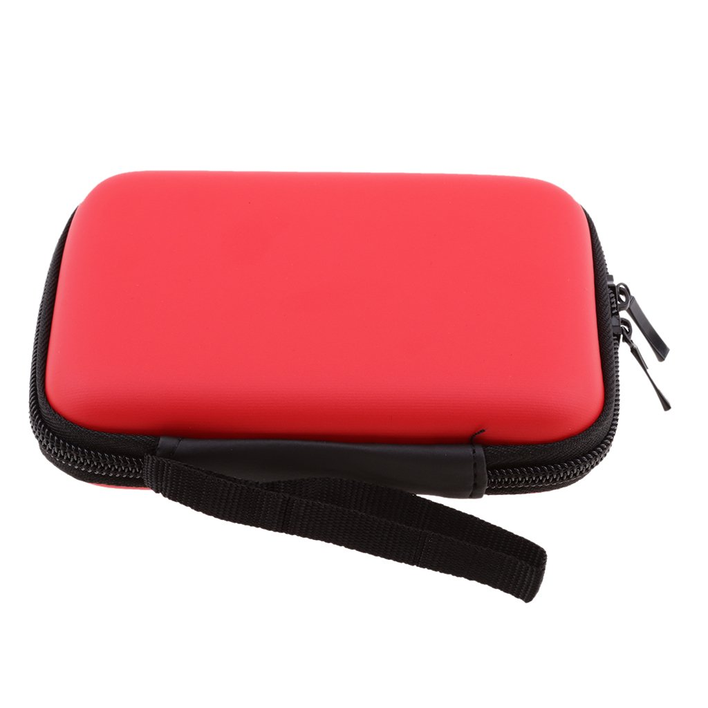 Dolity 2.5 inch Portable Electronics Accessories Storage Carrying Case Pouch for External Hard Drive Cords USB Cables MP3 Player Charger Power Bank 145x105x35mm Red