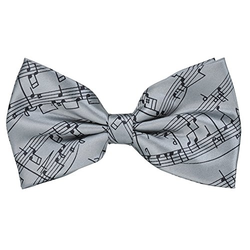 PUNK Pre-tie Music Notes Bow tie Self-tie Style 6 Colors Birthday Gift Formal Fun Occasions - Tie Music Sheet