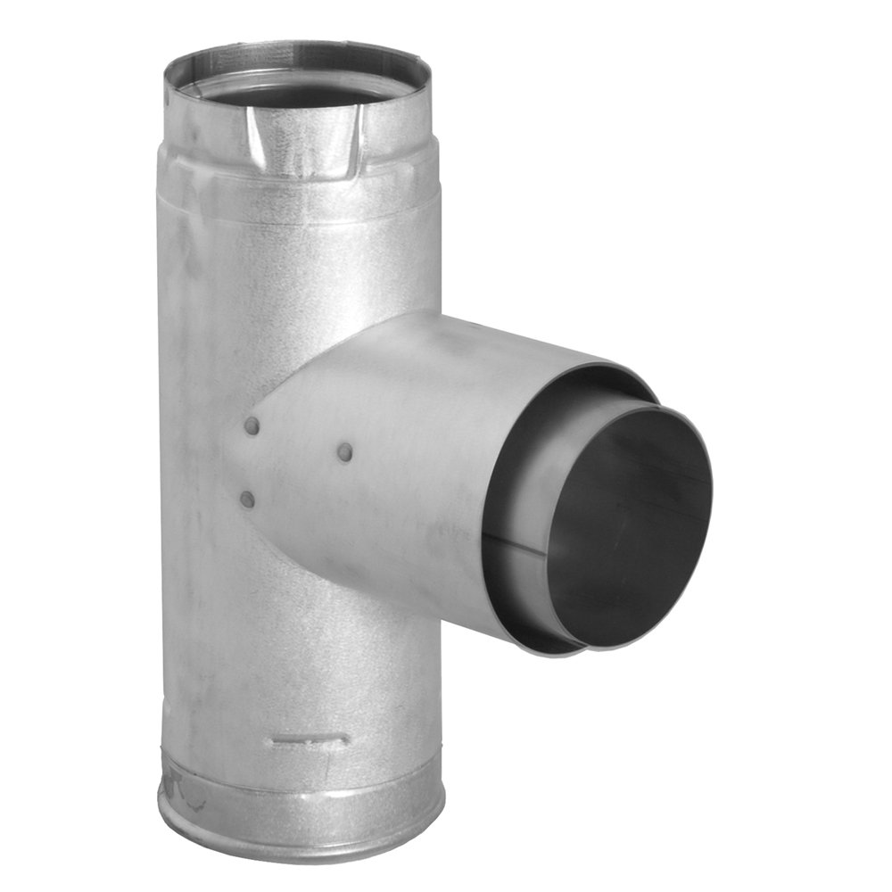 Dura-Vent 3PVP-TAD 3 PelletVent Pro Adapter Tee with Clean-Out Tee Cap