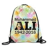 NUBIA Boxer Muhammaly Memorabilia Backpack Gymsack Drawstring Sack Pack