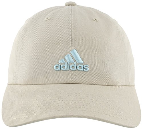 (adidas Women's Saturday Relaxed Adjustable Cap, Clear Brown/Chalk Blue, One Size)