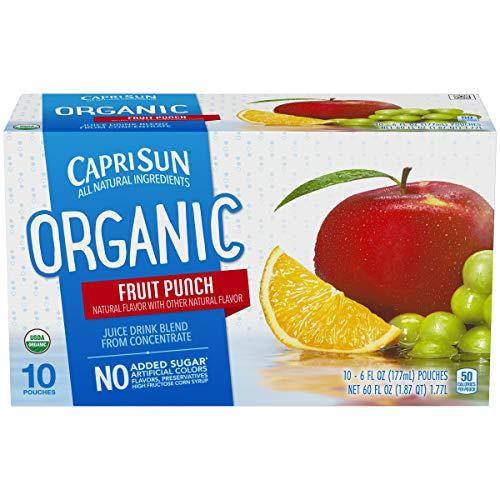 Capri Sun Fruit - Capri Sun Organic Fruit Punch Juice Drink (6 oz Pouches, 4 Boxes of 10)