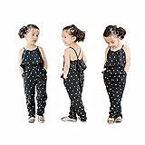 LUQUAN Kids Girls Love Heart Straps Rompers Jumpsuits Piece Pants Sets 3-4Y
