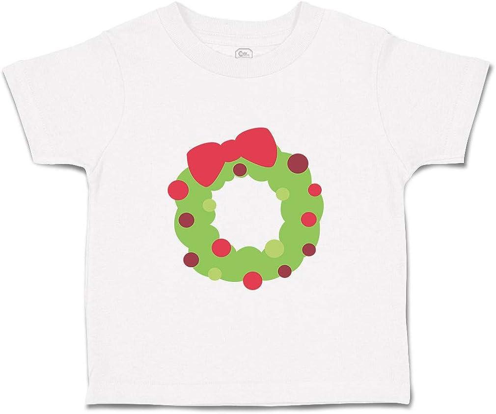 Custom Baby /& Toddler T-Shirt Christmas Wreath Cotton Boy Girl Clothes