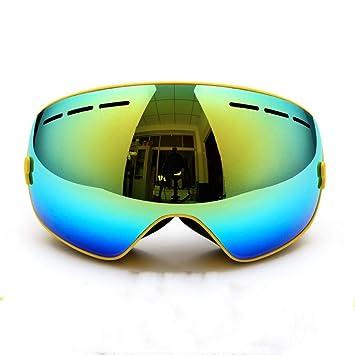 HCMONSTER Gafas de Esqui polarizadas 2 Lentes Dobles UV400 antivaho Grandes Gafas de Snowboard para Esquiar