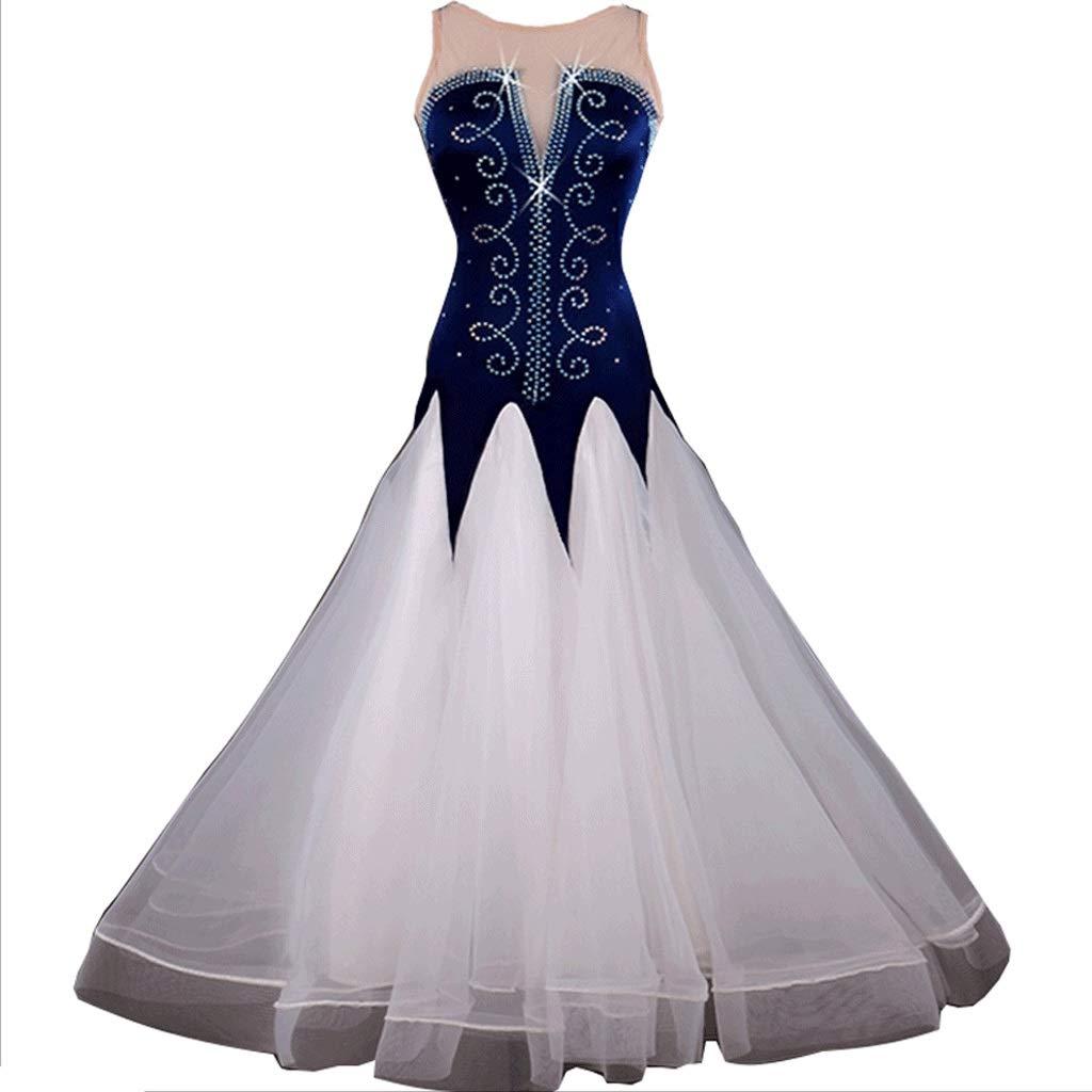 【在庫あり/即出荷可】 女性ノースリーブモダンダンスドレス大人社交ダンス衣装ワルツ社交ダンススカート B07QMRLKVK XL|ブルー ブルー ブルー XL|ブルー XL XL, はんどくらふとCOCO:bb62e90c --- a0267596.xsph.ru