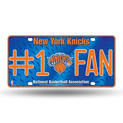 NBA New York Knicks #1 Fan Metal License Plate Tag