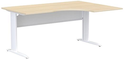 Eol Ideal asimétrico escritorios, Madera, Madera de Roble, 120 x ...